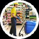 Entretien et nettoyage de supermarché, boutique et commerce