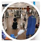 Nettoyage de salle de sport fitness en Ile de France, entreprise de nettoyage industriel
