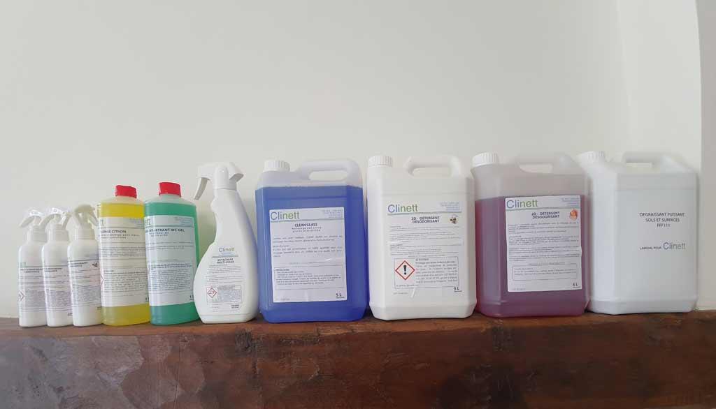 Gamme de produits de nettoyage industriel - Marque Clinett